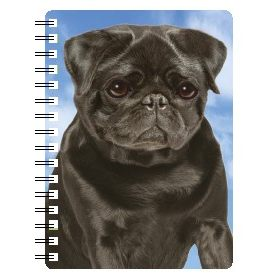 030717118588 3D Notebook Pug Black 3