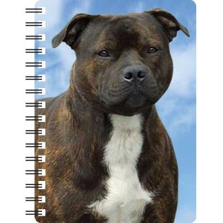 030717121038 3D Notebook Staffordshire Bull Terrier Brindle