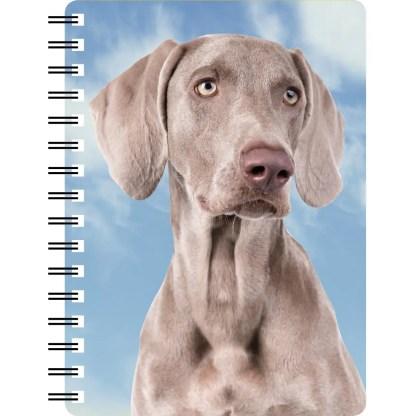 030717122899 3D Notebook Weimaraner