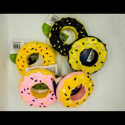 Pet Touch Squeaky Doughnut Dog Toy