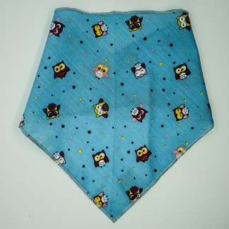 Birds: Owls on Blue Medium Bandana