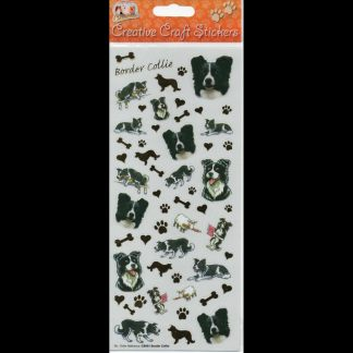 Border Collie Creative Craft Stickers