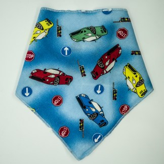 Cars on Blue Medium Bandana
