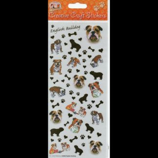 English Bulldog Creative Craft Stickers