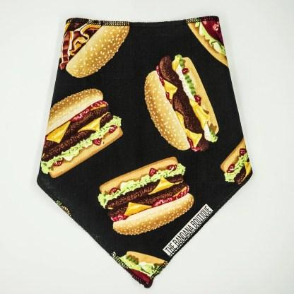 Burgers on Black Small Bandana
