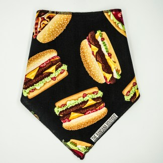 Burgers on Black Small Bandana