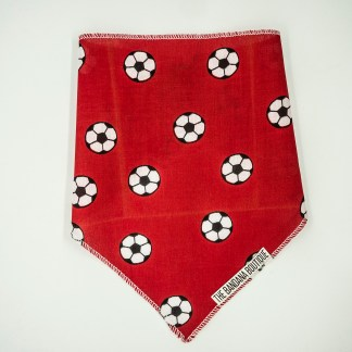 Footballs on Red Small Bandana