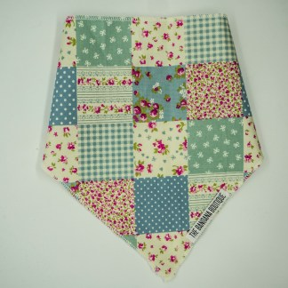Patchwork Floral Blue Green Medium Bandana