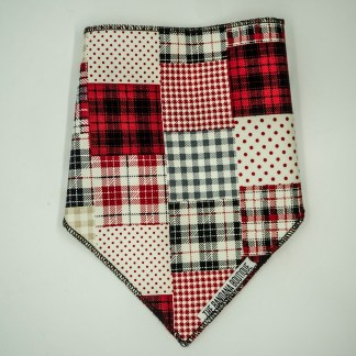 Patchwork Red Black Small Bandana