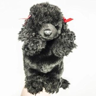 Poodle Black Glove Puppet