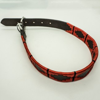 Red Polo XL Leather Collar