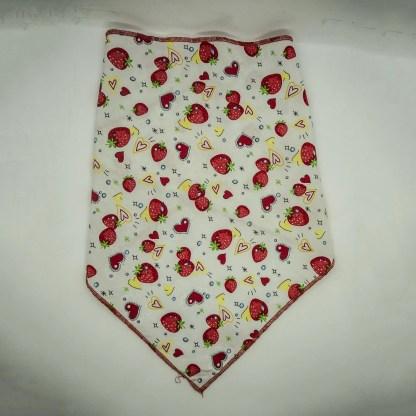 Strawberries on White Large Bandana