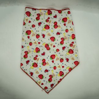 Strawberries on White Large Bandana