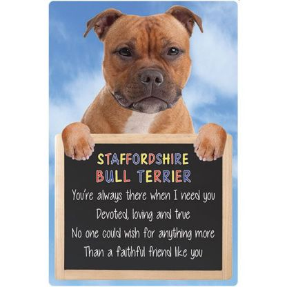 030717117451: 3D Hangable Verse Staffordshire Bull Terrier Red