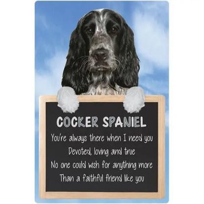 030717117253: 3D Hangable Verse Cocker Spaniel