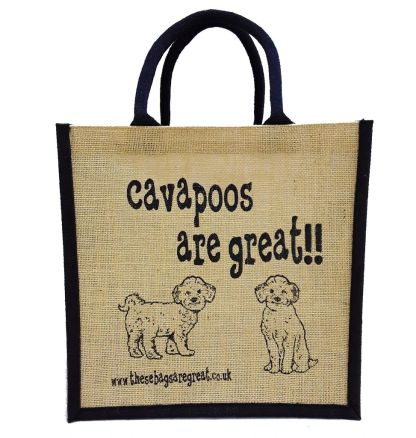 Cavapoos are Great Jute Bag