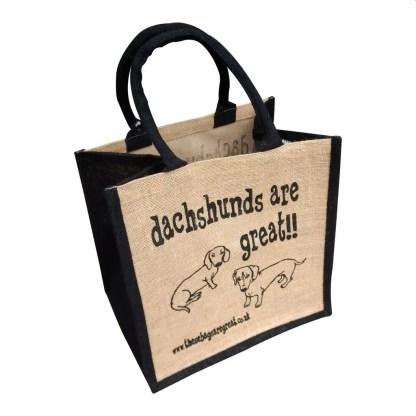 Dachshunds are Great Jute Bag Short Hair
