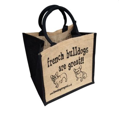 French Bulldogs are Great Jute Bag