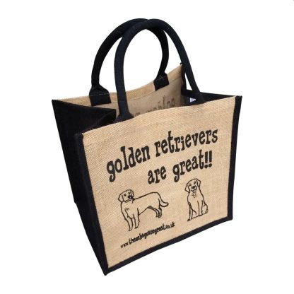 Golden Retrievers are Great Jute Bag