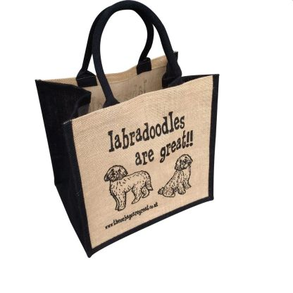 Labradoodles are Great Jute Bag