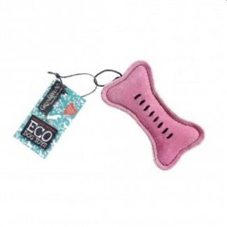 703625145445 Pinkie Bone Eco Dog Toy