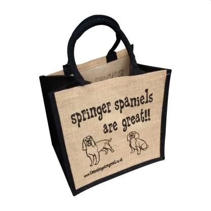 Springer Spaniels are Great Jute Bag