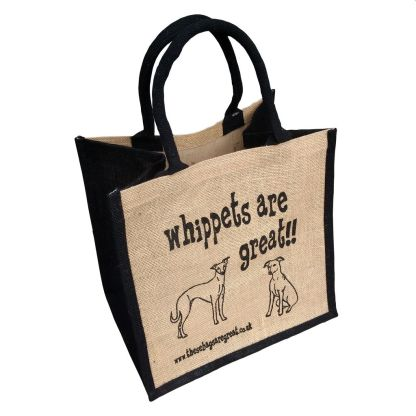 Whippets are Great Jute Bag
