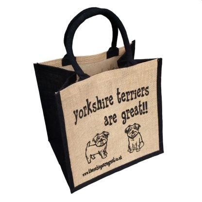 Yorkshire Terriers are Great Jute Bag