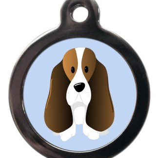 Basset Hound BR16 Dog Breed ID Tag
