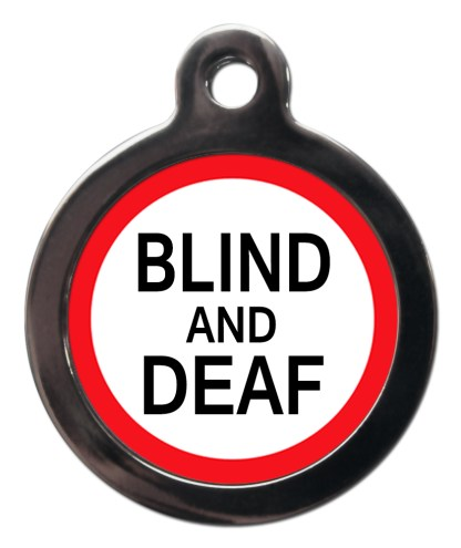 Blind and Deaf ME41 Medic Alert Dog ID Tag