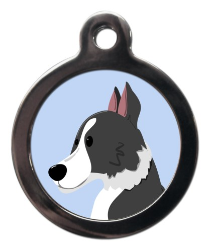 Border Collie BR5 Dog Breed ID Tag