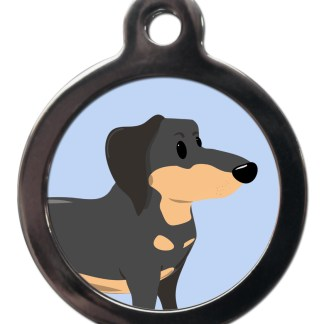 Dachshund BR19 Dog Breed ID Tag