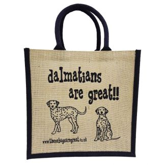 Dalmatians are Great Jute Bag