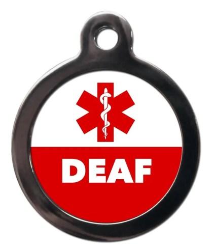 Deaf ME59 Medic Alert Dog ID Tag