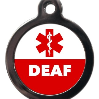 Deaf ME59 Medic Alert Dog ID Tag