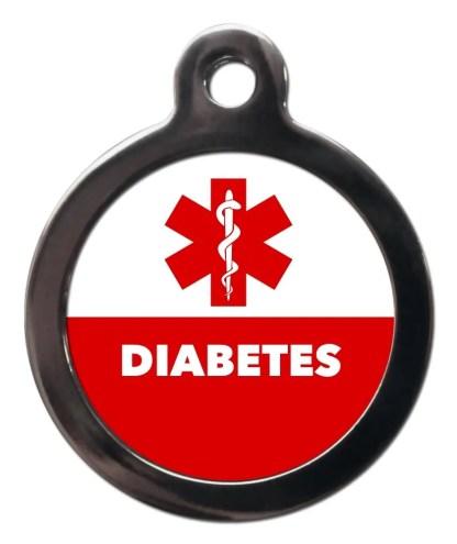 Diabetes ME60 Medic Alert Dog ID Tag