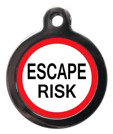 Escape Risk ME43 Medic Alert Dog ID Tag