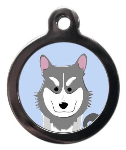 Husky BR9 Dog Breed ID Tag