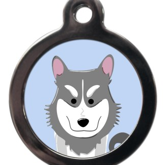 Husky BR9 Dog Breed ID Tag