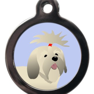 Lhasa Apso BR30 Dog Breed ID Tag