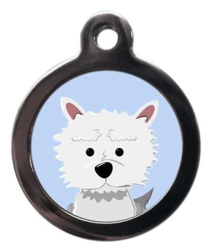 Westie BR14 Dog Breed ID Tag