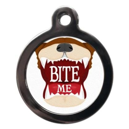 Bite Me CO11 Comic Dog ID Tag