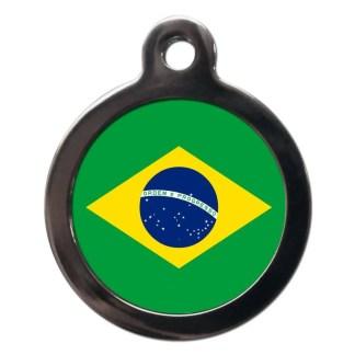 Brazilian Flag FL31 Dog ID Tag