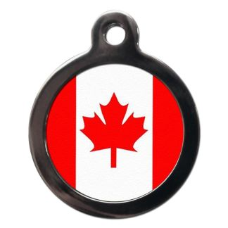 Canadian Flag FL14 Dog ID Tag