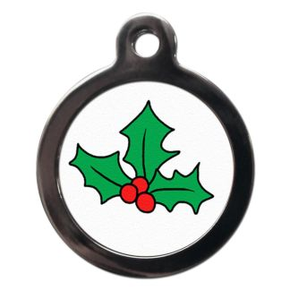 Christmas Holly FE7 Festive Christmas Dog ID Tag