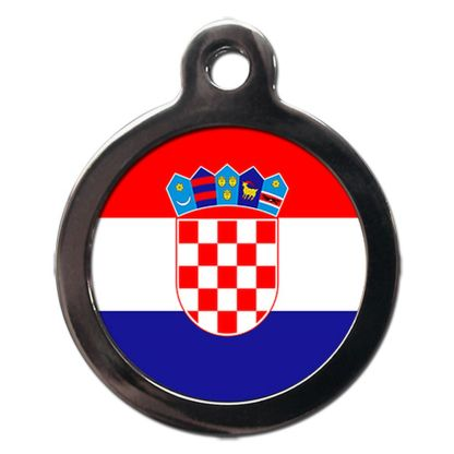 Croatian Flag FL34 Dog ID Tag