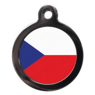 Czech Flag FL30 Dog ID Tag