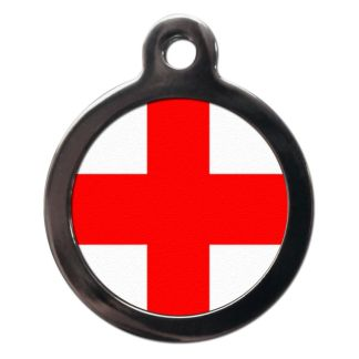 English Flag FL4 Dog ID Tag