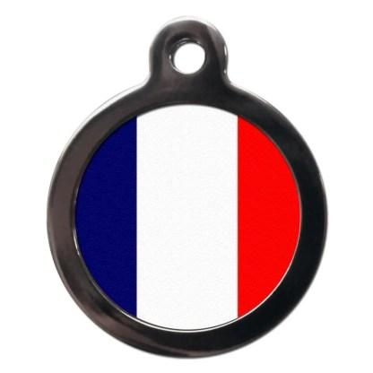 French Flag FL13 Dog ID Tag