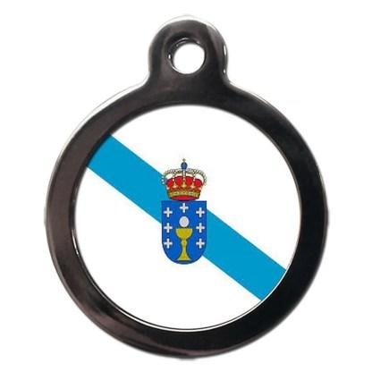Galician Flag FL32 Dog ID Tag